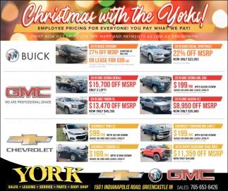 Christmas with Yorks!