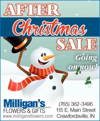 After Christmas Sale Going On Now!