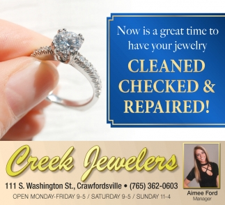 Now is a Great Time to Have Your Jewelry Cleaned, Checked & Repaired!