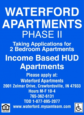 Taking Applications for 2 Bedroom Apartments