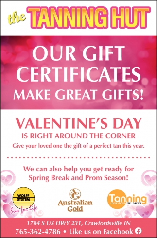 Our Gift Certificates Make Great Gifts!