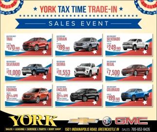 York Tax Time Trade-In