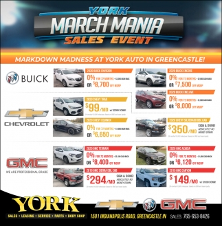 York March Mania Sales Event