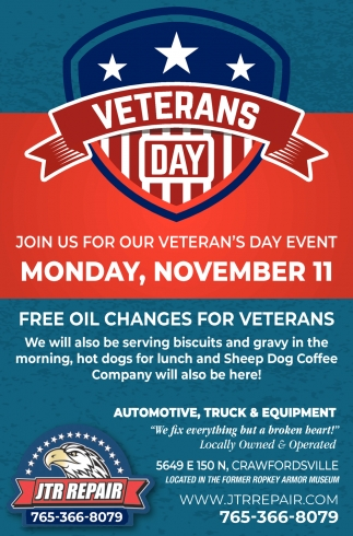 Join Us for Veteran's Day Event