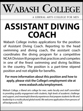 Assistant Diving Coach