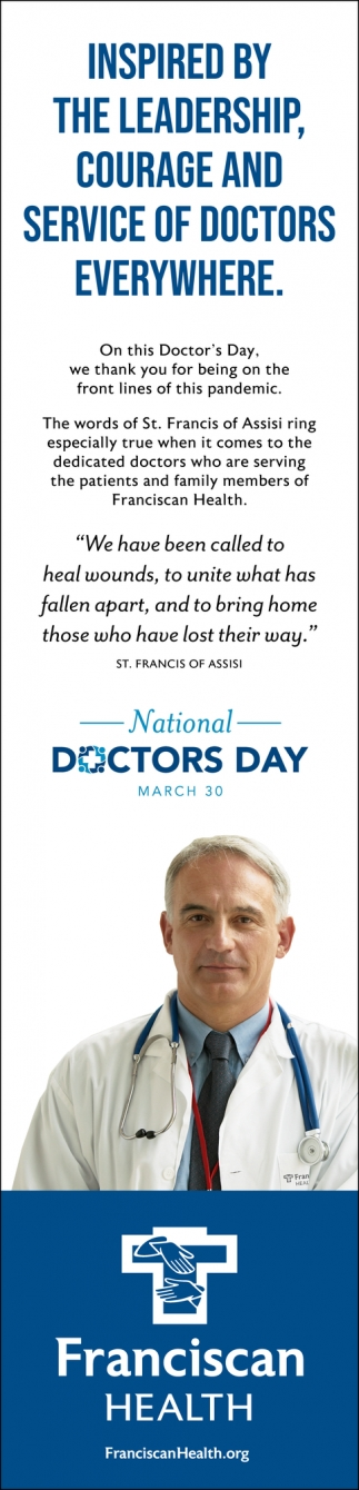 Inspired by the Leadership, Courage and Service of Doctors Everywhere