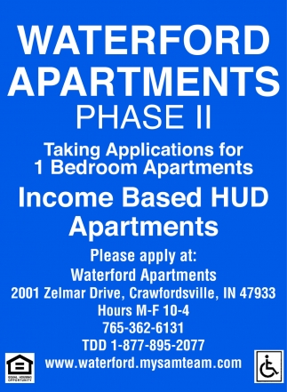 Income Based HUD Apartments
