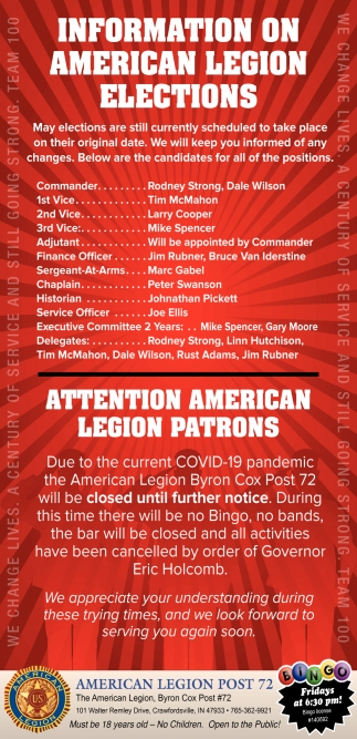 Information On American Legion Elections