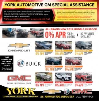 Automotive GM Special Assistance
