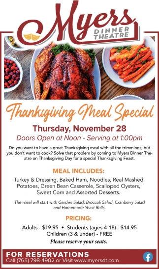 Thanksgiving Meal Special